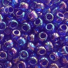 Toho 6/0 Seed Beads Transparent Rainbow Cobalt 87 - 10 grams